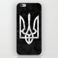 ukraine iPhone & iPod Skins featuring Ukraine Black Grunge by Sitchko Igor
