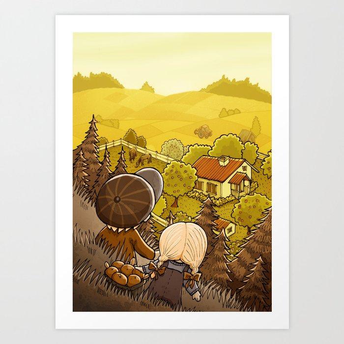 Countryside Art Print