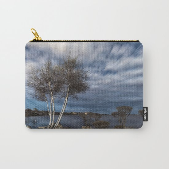 Birch tree by the pond Carry-All Pouch