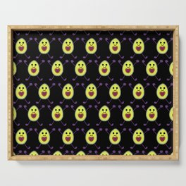 Let's Avocuddle AVOCADO - dark bg Serving Tray