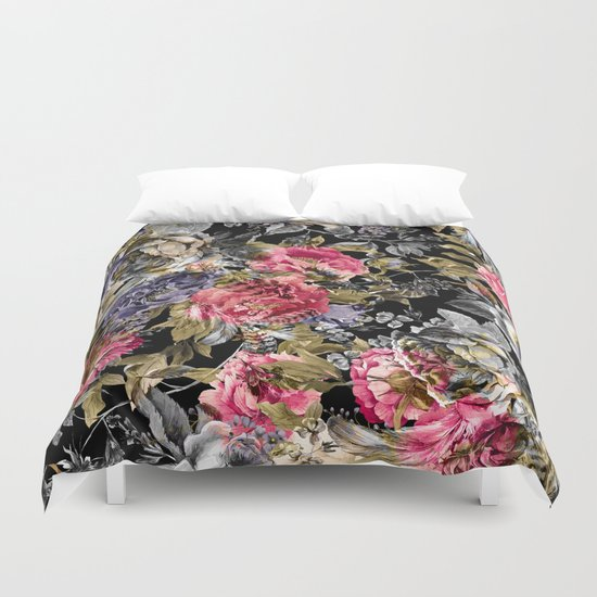 Seamless Floral Pattern Duvet Cover