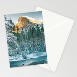 Half Dome In Winter Stationery Cards