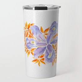 Iris and Butterfly Weeds Travel Mug