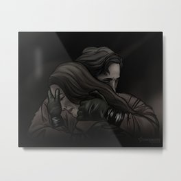 she can't get in // kabby Metal Print