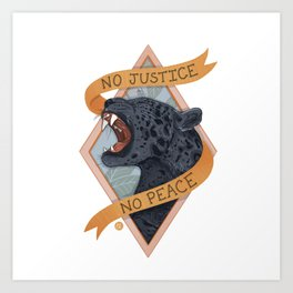 Justice Patch Art Print