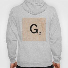 Scrabble Letter G - Scrabble Art and Apparel Hoody