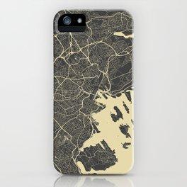 Oslo Map iPhone Case