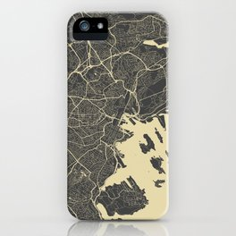Oslo Map yellow iPhone Case