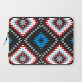 Colorful patchwork mosaic oriental kilim rug with traditional folk geometric ornament. Tribal style Laptop Sleeve