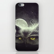Owl & The Moon iPhone & iPod Skin