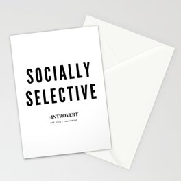 Socially Selective | Introverts Unite Stationery Cards
