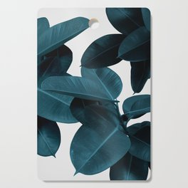 Indigo Blue Plant Leaves Cutting Board