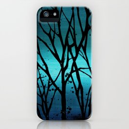 Teal Branch Trees iPhone Case