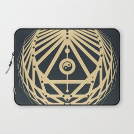 Radiant Abundance (grey-gold) Laptop Sleeve