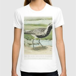 The Black-Bellied Plover (Squatarola Squatarola) illustrated by JL Ridgway (1859-1947) and WB Gillet T-shirt