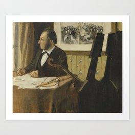 The Cellist Pilet Art Print