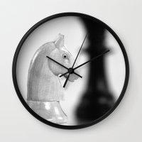 chess Wall Clocks featuring Chess by Falko Follert Art-FF77