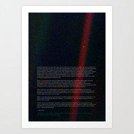 Pale Blue Dot - Voyager 1 [Russian / Русский], HQ quality Art Print