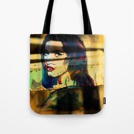 Painted Persephone On Rust Tote Bag