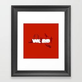 Word Play Framed Art Print
