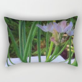 Chives in Bloom Rectangular Pillow