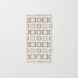 101 - Sepia many frames pattern Hand & Bath Towel