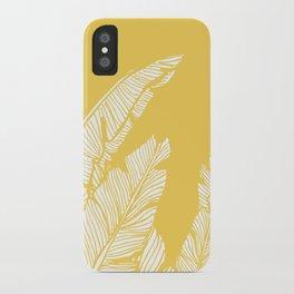 Banana Leaves on Yellow #society6 #decor #buyart iPhone Case