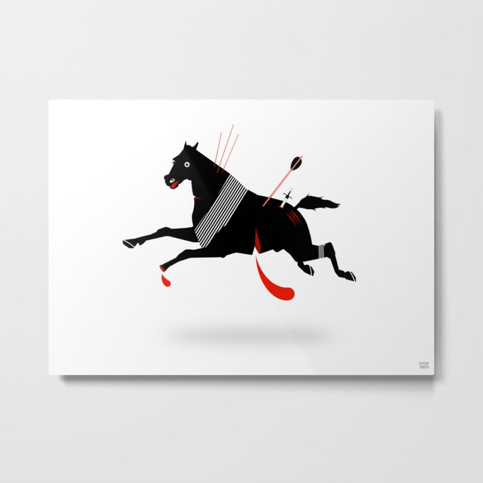 Battle Horse Metal Print