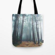 Foggy Woods II Tote Bag