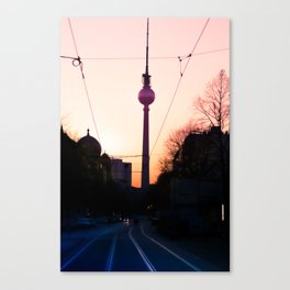 Berlin TV Tower Fernsehturm Canvas Print