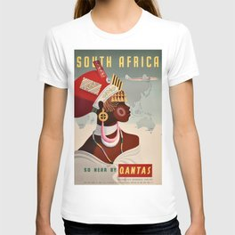 South Africa, Qantas - Vintage  Poster T-shirt