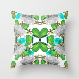 Abstract Nature Print Throw Pillow