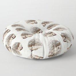 cute beige woodland animal baby hedgehog Floor Pillow