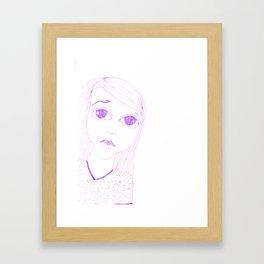 purple sadness1 Framed Art Print