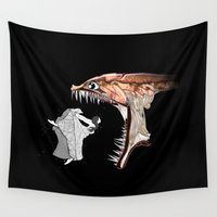 monster Wall Tapestries featuring Monster by AkuMimpi