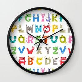 Alphabet Critters 2 Wall Clock