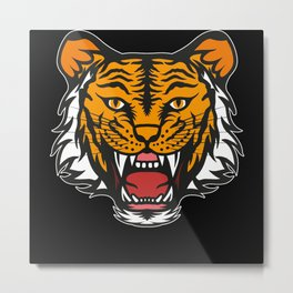 Tiger Design Big Cat Tigers Cool Animal Cats Gift Metal Print