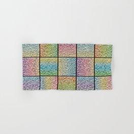 Pastel Rainbow Chrome Tiles Hand & Bath Towel
