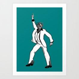 Saturday Night Cyberman Art Print