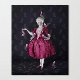 Parrot Lady Canvas Print