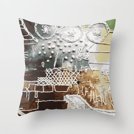 Embroidered Landscape Throw Pillow