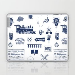 Railroad Symbols // Navy Blue Laptop & iPad Skin