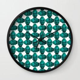Turquoise Buddha Wall Clock