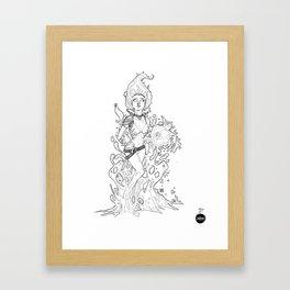 Inktober Day 16 - Fathom Framed Art Print