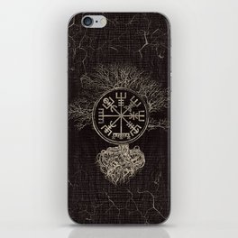 Vegvisir  and Tree of life  -Yggdrasil iPhone Skin