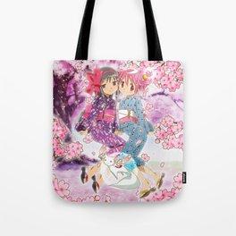 Madoka and Homura Tote Bag