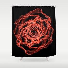 Fire Floral Design Shower Curtain