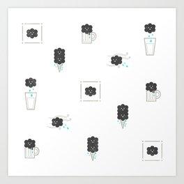 Rainy smile Art Print