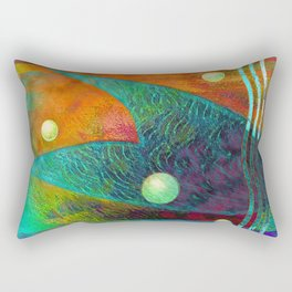 Colorful Mermaid Tail Horizontal Rectangular Pillow