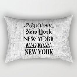 New York City black and white New York poster I love heart NYC Design black-white home wall decor Rectangular Pillow